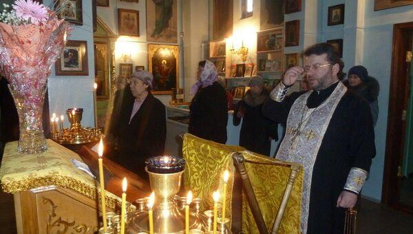 Панихида по убиенным в кафедральном соборе города Южно-Сахалинска