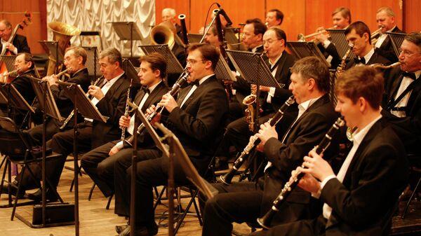 Концертный духовой оркестр Новосибирской государственной филармонии, архивное фото