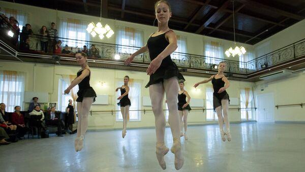 Открытый урок в Академии русского балета имени Вагановой в Петербурге