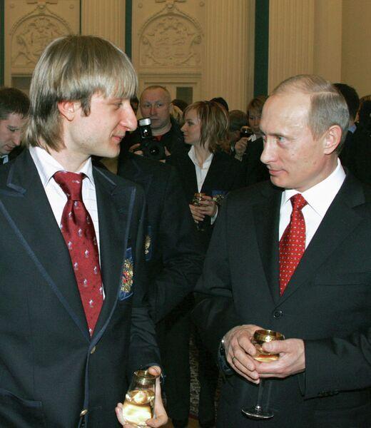Владимир Путин встретился с призерами ХХ зимних Олимпийских игр в Турине