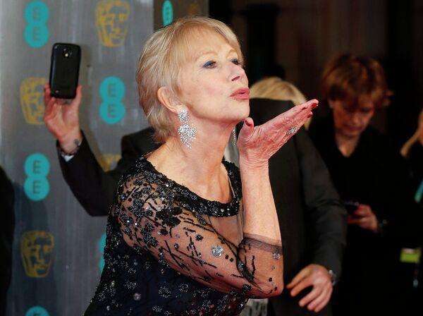 Актриса Хелен Миррен на церемонии вручения премии BAFTA