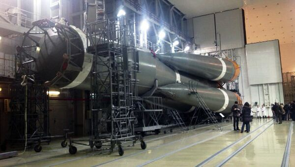 Ракетоноситель Союз-2-1Б на космодроме Плесецк. Архивное фото