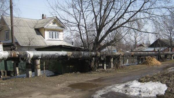 Шарьинская ТЭЦ в Костромской области. Плачевное состояние сетей Шарьинской ТЭЦ. Событийное фото.