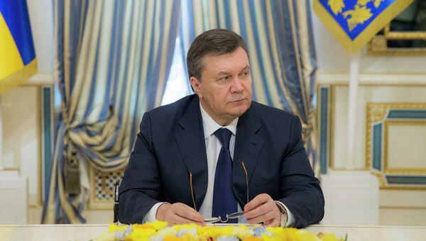 Президент Украины Виктор Янукович, архивное фото