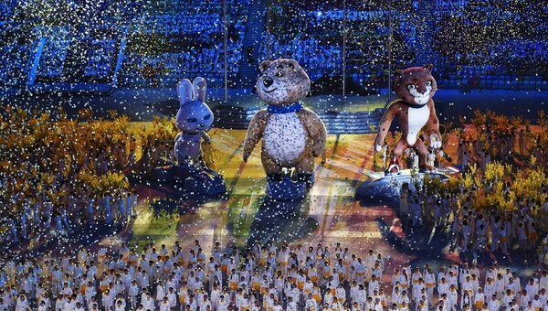 Церемония закрытия XXII зимних Олимпийских игр в Сочи.