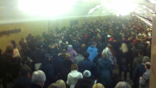 Ситуация на станции метро Библиотека имени Ленина утром 25 февраля 2014 года