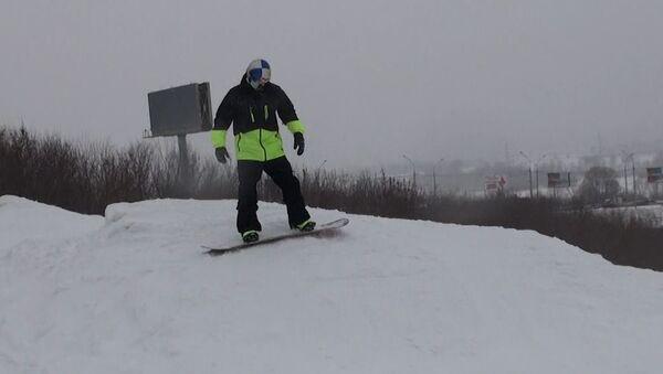 Сноуборд с олимпийцем Соболевым. Урок второй – первые спуски со склона