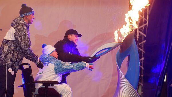 Эстафета паралимпийского огня в Северске Томской области, событийное фото