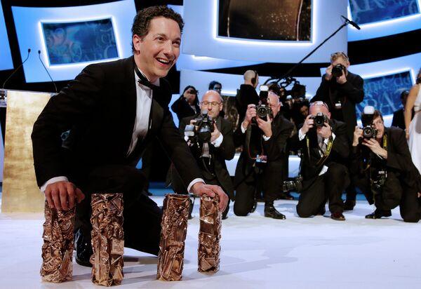 Актер, cценарист, режиссер и продюсер Гийом Гальенн на 39-й церемонии вручения наград премии Сезар