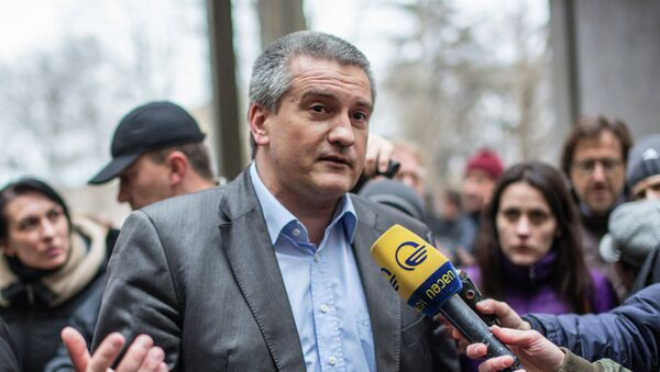Глава Совета министров Крыма Сергей Аксенов. Архивное фото