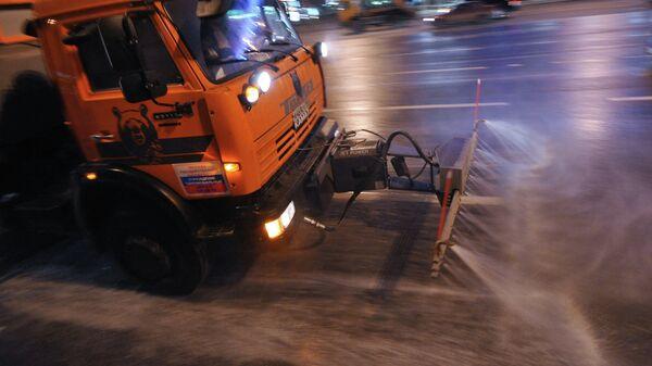 Мойка улично-дорожной сети Москвы