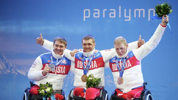 Алексей Быченок (Россия) - серебряная медаль, Роман Петушков (Россия) - золотая медаль, Григорий Мурыгин (Россия) - бронзовая медаль