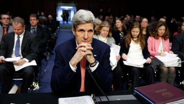 Госсекретарь США Джон Керри на слушаниях в конгрессе