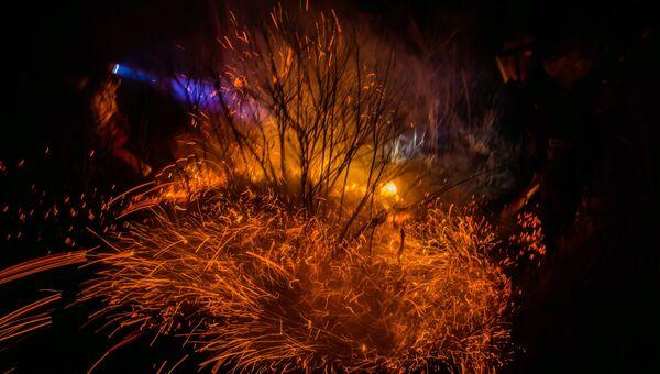 Тушение природных пожаров. Архивное фото