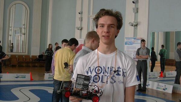 Студенты из РФ и Украины показали роботов на колесах в Томске