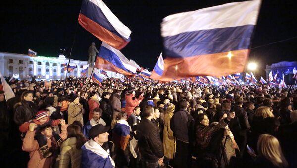 Праздничный концерт в Симферополе в честь референдума. Фото с места событий