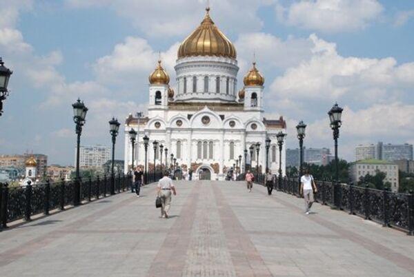 Вид с Патриаршего моста на Храм Христа Спасителя
