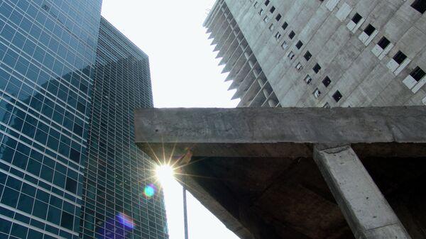 Строящиеся корпуса Московского городского технопарка Nagatino i-land, офисный бизнес центр, МФК, строительство