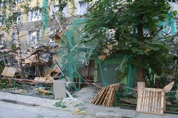 Обрушение строительных лесов