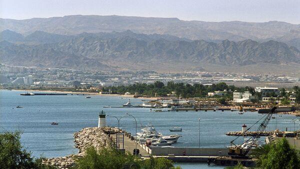 Вид на порт города Акаба