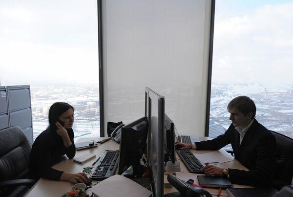 Работа офисов Mirax Group в башне Федерация