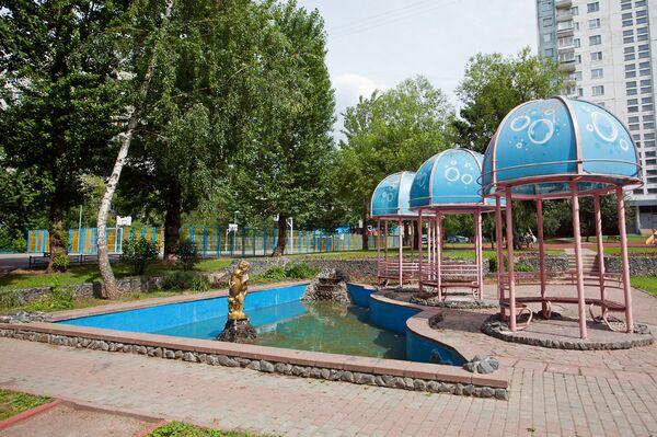 Двор на улице Абрамцевской, 18 в Москве