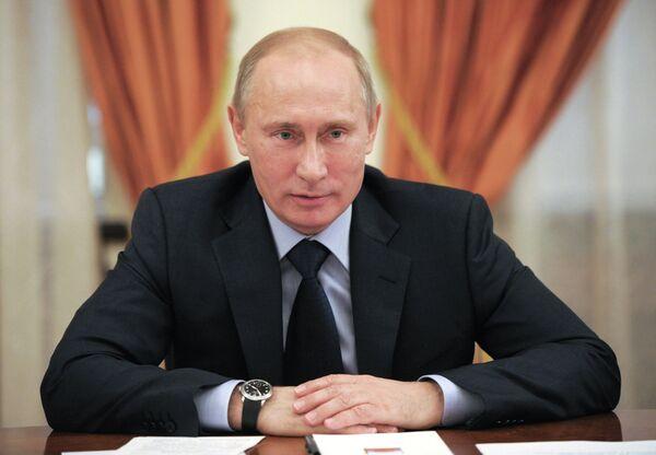 Президент РФ В.Путин проводит совещание в Ново-Огарево