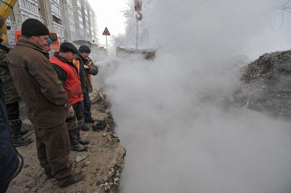 Прорыв теплотрассы в Екатеринбурге