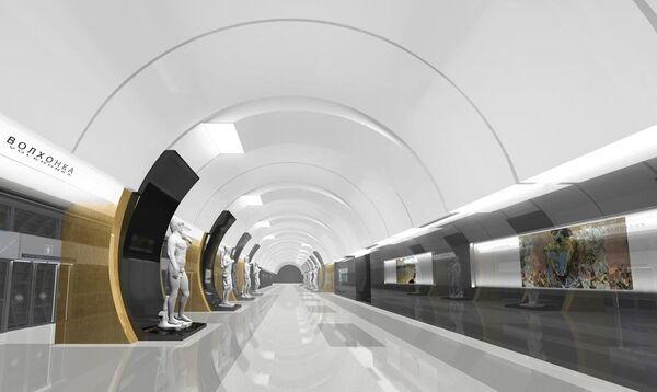 Станцию метро Волхонка Калининско-Солнцевской линии украсят копиями экспонатов из музея Пушкина