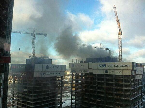 Пожар в Москва-Сити