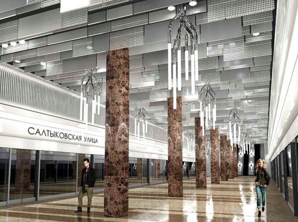 Проект станции метро «Салтыковская улица»