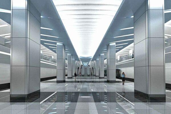 Проект станции метро «Деловой центр»