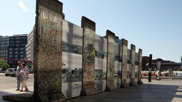 Фрагмент Берлинской стены на Потсдамской площади в районе Тиргартен