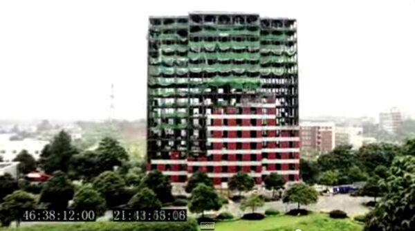 Строительство 15 этажного отеля за 6 дней в Китае
