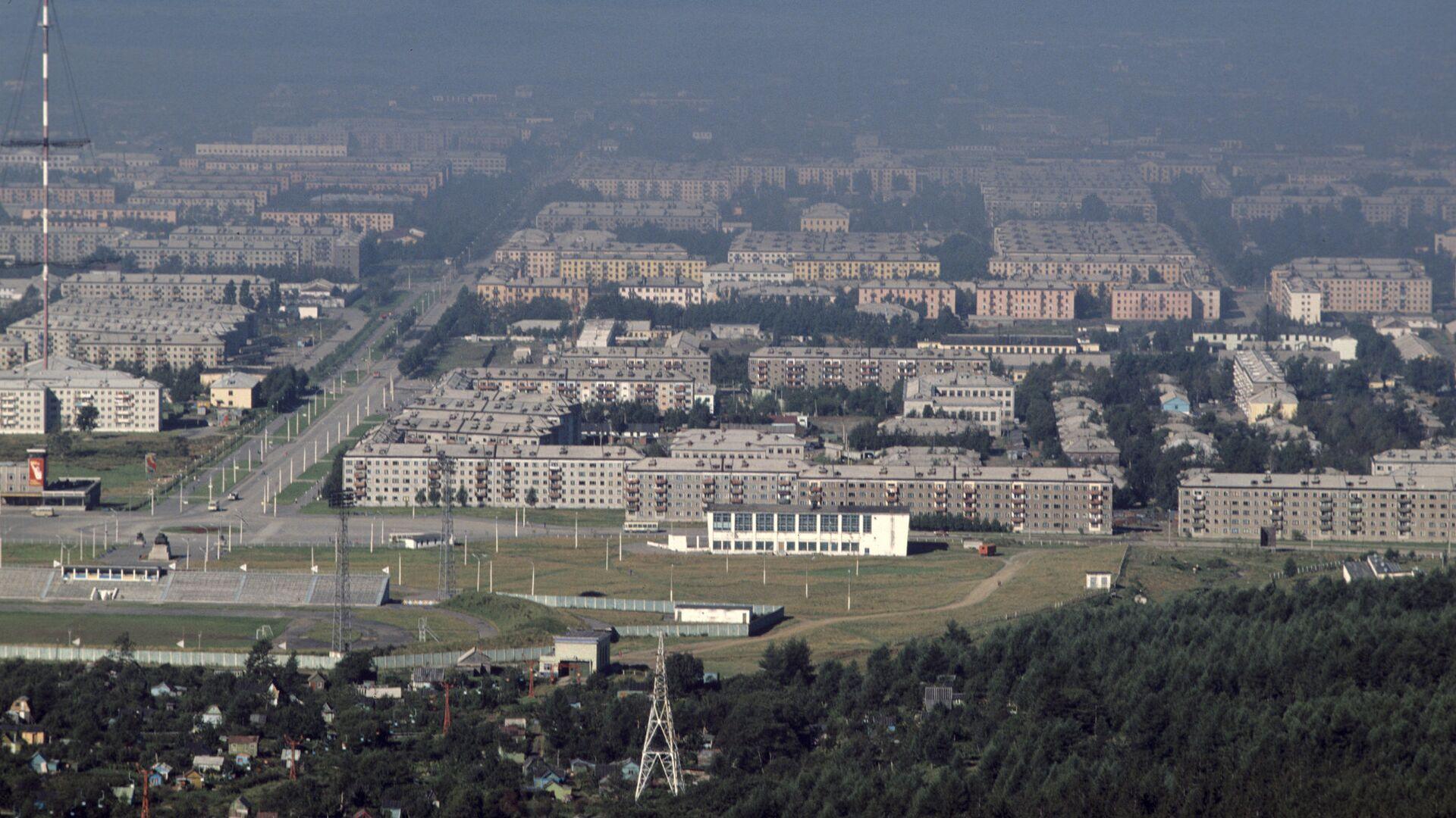 Вид на город Южно-Сахалинск - РИА Новости, 1920, 23.09.2020