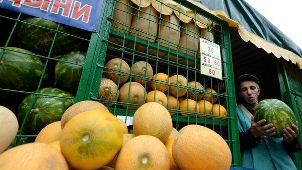 Торговля арбузами и дынями в Москве