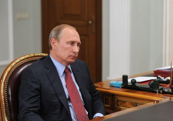 Рабочая встреча президента РФ В.Путина с губернатором Магаданской области В.Печеным