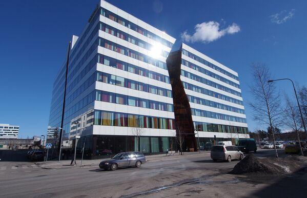 Здание с трещиной в Стокгольме