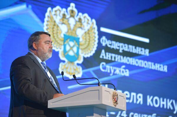 Президент РФ В.Путин принимает участие в форуме ФАС Неделя конкуренции в России