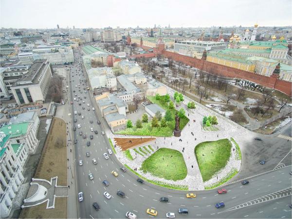 Проект благоустройства Боровицкой площади Народный архитектор