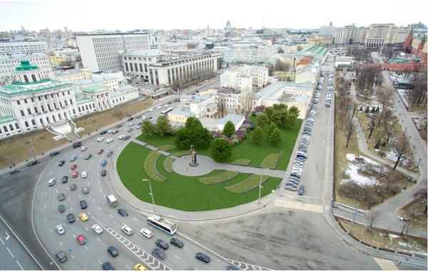 Проект благоустройства Боровицкой площади Arteza