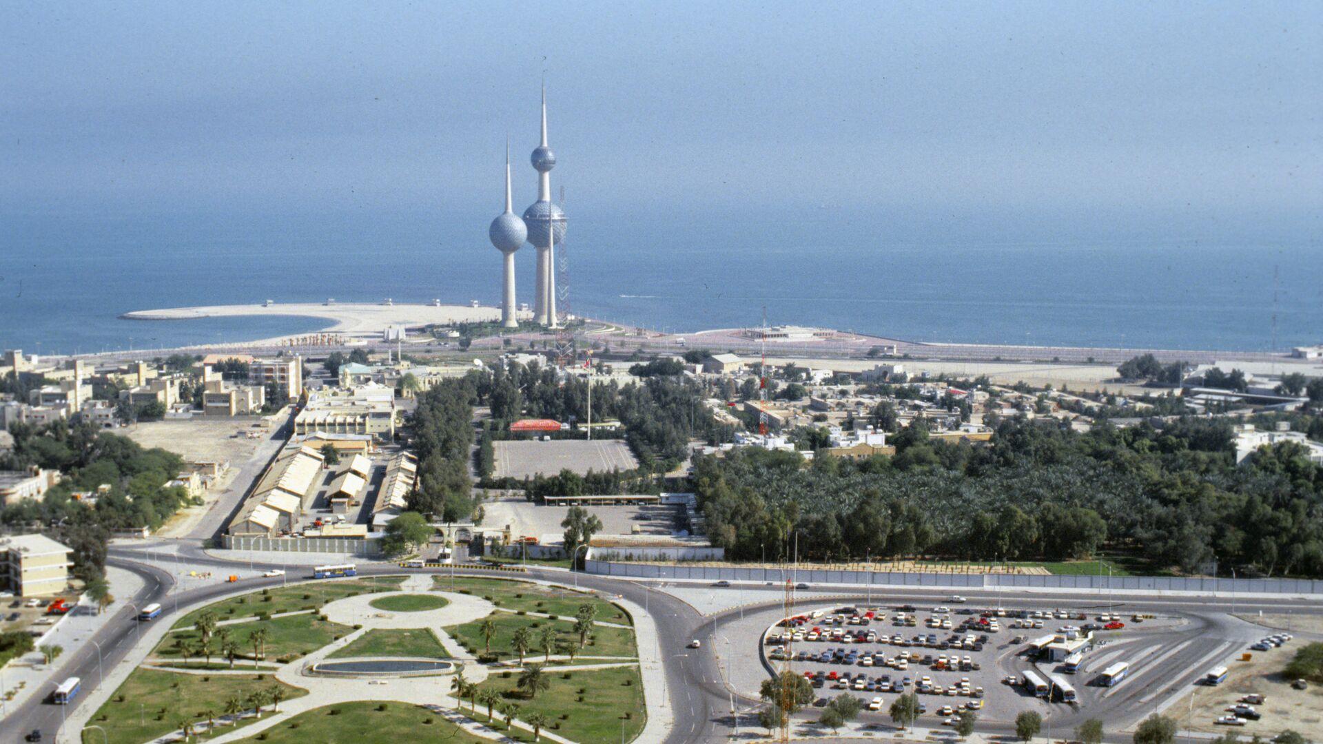 Вид на город Эль-Кувейт сверху - РИА Новости, 1920, 05.08.2021