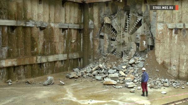 Ольгина работа: на Мичуринский проспект вышел тоннелепроходческий щит