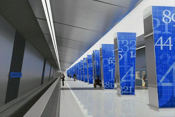 Проект станции Ломоносовский проспект
