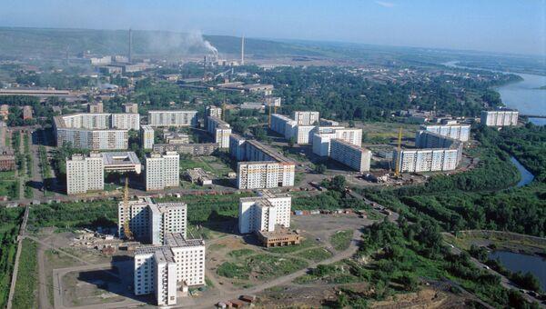 Вид на город Новокузнецк. Архивное фото