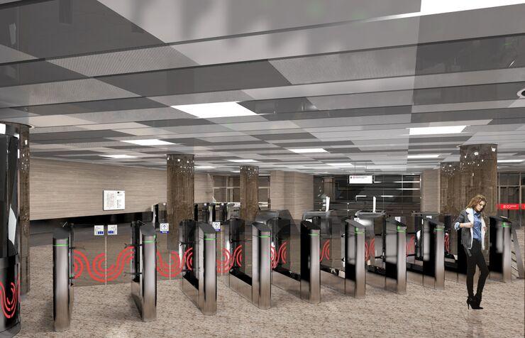 Станция Улица Дмитриевского Кожуховской линии метро Москвы