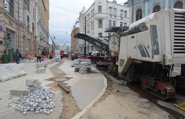 Благоустройство улиц в Москве