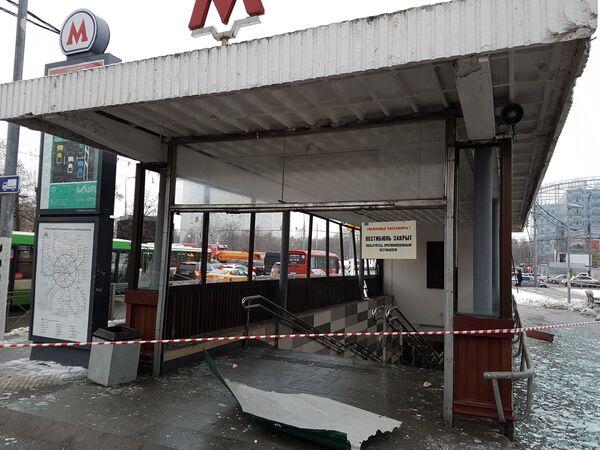 В переходе у метро Коломенская в Москве произошел взрыв