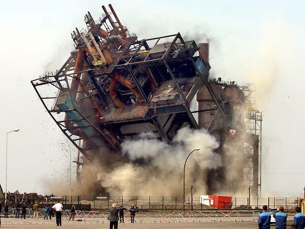 Взрыв домны фабрики Ferro Comilog на севере Франции