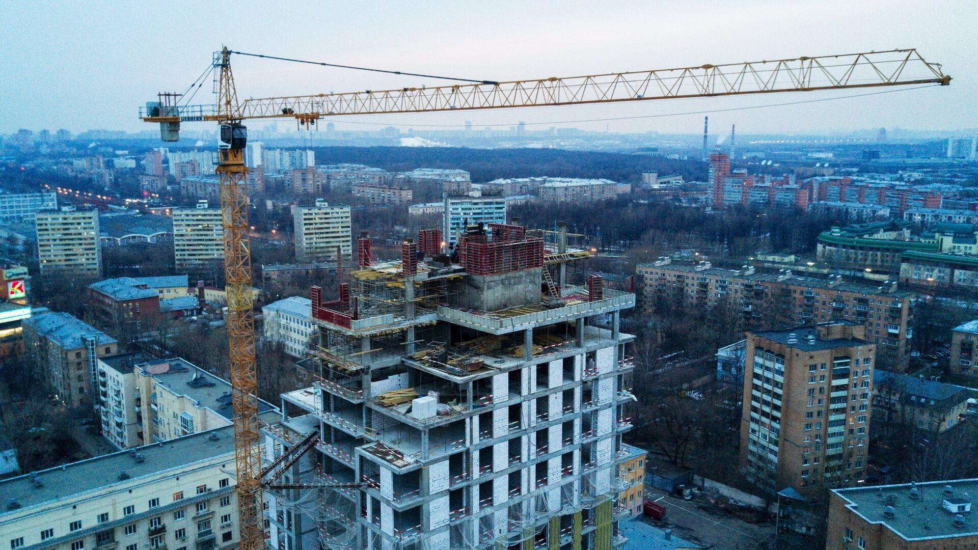 Строительство жилья в Москве - РИА Новости, 1920, 05.02.2021